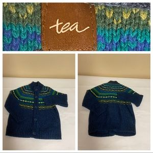 Tea collection cardigan sweater Sz Boys 2-3 Years